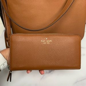 kate spade Bags - Kate Spade Large Leather Purse and Wallet Set